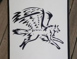 Winged Wolf on my Boat by RoceyD