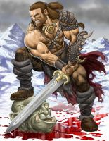 Osric the Barbarian by RubusTheBarbarian