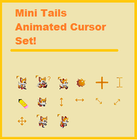 Mini Tails Cursor Set by Hunny4
