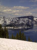 the Island in Crater Lake by KMKramer44