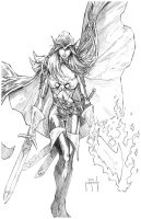WoW Blood Elf Rogue pencils by Jason Metcalf by JasonMetcalf