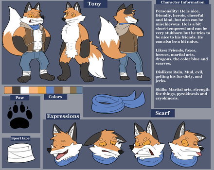 Tony the Fox Ref 2016 by Glassesgator by Shaprite91