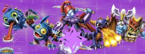 Magic Skylanders Facebook Cover by txwhitewolf