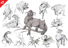 Creature concepts by S-P-N