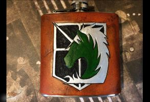 Military Police Leather Flask Attack on Titan by aGrimmDesign