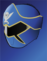Gokai Blue Helmet by CrossedRunner