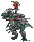Dino-Riders T-Rex by JoelRCarroll