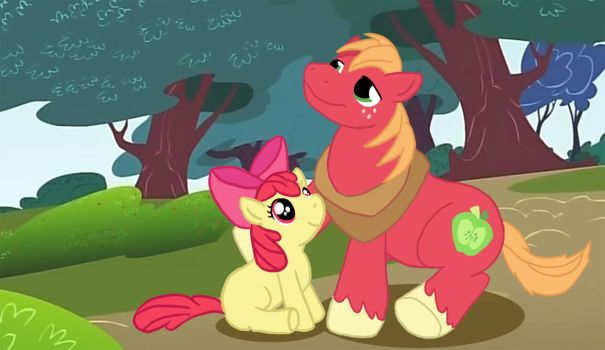 Big Mac and Applebloom by from-yesterday-xx