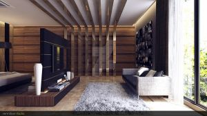 modern wood jerry bedroom by vermillion3D