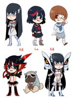 Kill La Kill Stickers by Shilloshilloh