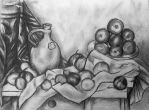 Still Life Fruit Drawing by NasuHime