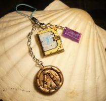 Maya the Siren - handmade Charms + Book Locket by Ganjamira