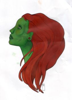 Green female 01 by ghehcore