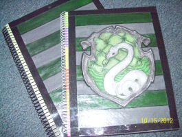 Slytherin Notebooks by SaneAsIam98