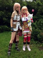 Lightning and Serah by akelataka