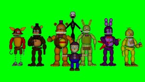 Two animatronics join the party. by supermariojustin4
