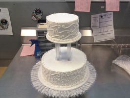 Swirly Wedding Cake by AingelCakes