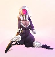 Black Cat Quarian V2 colors by nahp75