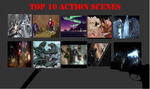 Top 10 action scenes by KaijuAlpha1point0
