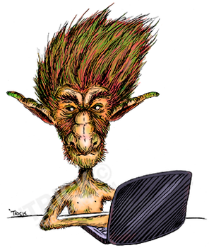 Internet Troll (color) by trickslattery