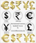 International Currency Symbols by 123freevectors