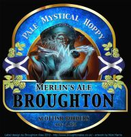 Merlin Ale Label by Nickillus