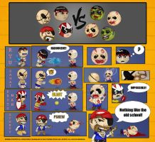 Heroes VS Zombies by BobbleBudds
