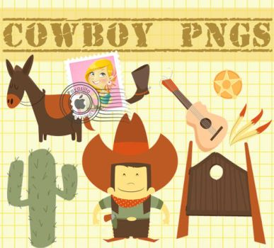 Cowboy PNG's by Payasiita