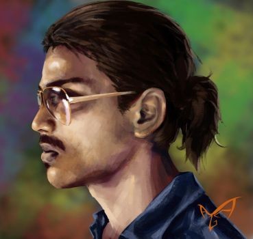 #self portrait #photoshop #speed painting by predatorarjun