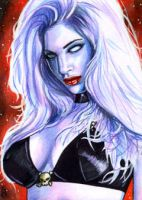 Lady Death Sketch Card 1 by veripwolf