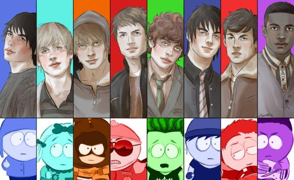 South Park guys by JeyDS