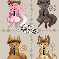 [CLOSED] Animated Flox Adopts: Flower Crown Litter by Akai-Umi