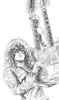 Jimmy Page 10 minute sketch by cozywelton