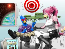 Nova and Falco by biofox86 by Cosmic-Phoenyx