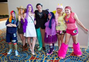 The whole Pony gang (MomoCon 2012) by xMissPanda