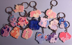 Pony Keychains! by buttsnstuff