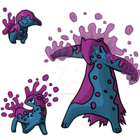 Poison type Cyndaquil evo by Sparrow-Kaizu