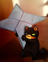 Ninja cat by ChaconTilune