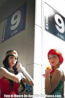 Wonder Woman and Poison Ivy by Mcjustwannahavefun