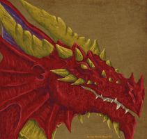 Red dragon by Black-Rose-92