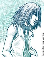 Riku Sketch by cassiesillustrations