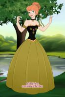 Anna In Black Green Ball Gown by AnneMarie1986