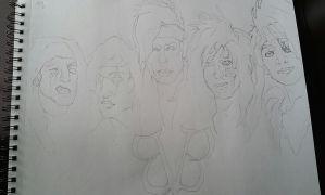 black veil brides lineart by Panicatthedisco7