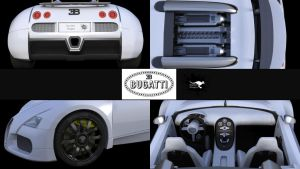 Bugatti Veyron Study Points Of Interest by Rooboy3D