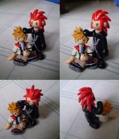 Axel and Roxas. by CrowMaiden