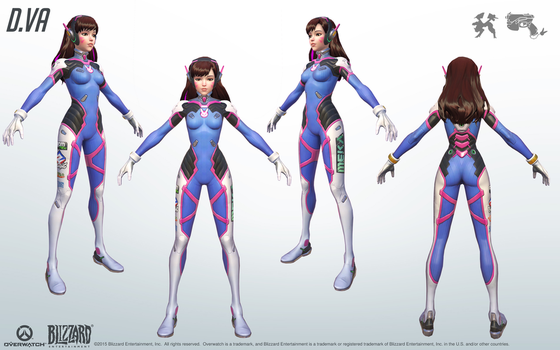 D.Va - Overwatch - Close look at model by PlanK-69