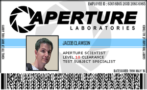 Aperture Scientist Employee Badge by sxymegger