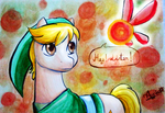Link pony and angry Navi by Auriaslayer
