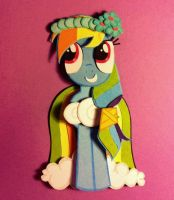 Bridesmaid Rainbow Dash- Papercut by jcsunshinee