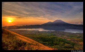 Sunrise at Mount Batur II by Haufschild